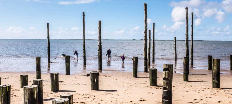 Besøg den smukke og berømte Hjerting Strand.