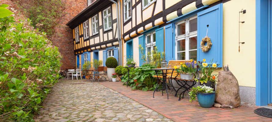 Machen Sie einen Ausflug mit Freunden zum UNESCO-geschützten historischen Viertel von Stralsund.
