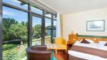 Hotellets værelser tilbyr noen hyggelige og komfortable rammer under oppholdet.