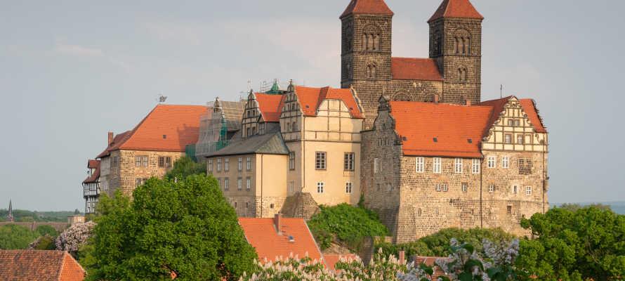 Quedlinburg er en vakker gammel by med mye spennende historie, med det imponerende slottet.