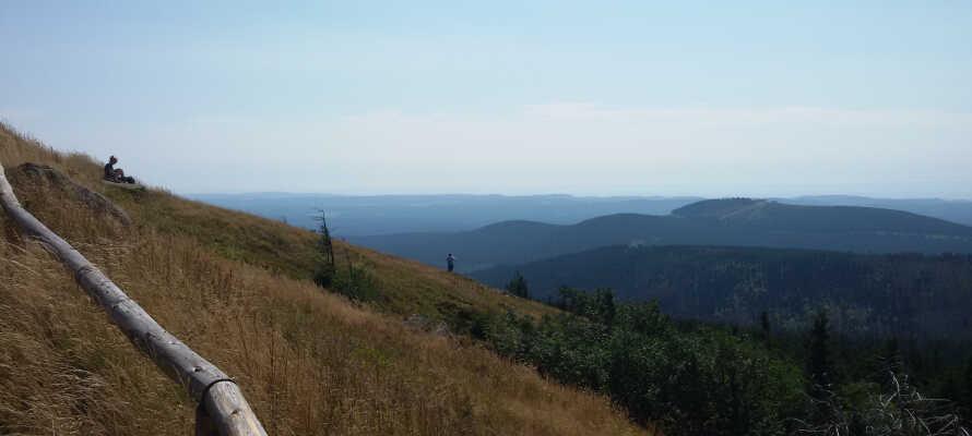 Utsikten over Brockenfjellet, som er den høyeste i Harz-fjellene, er imponerende.
