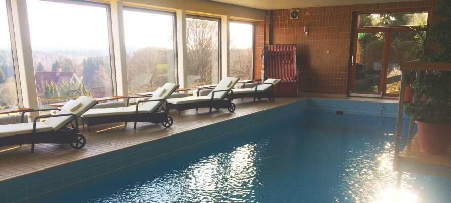 Hotellet har en lækker wellnessafdeling med bl.a. swimming pool, sauna og dampbad