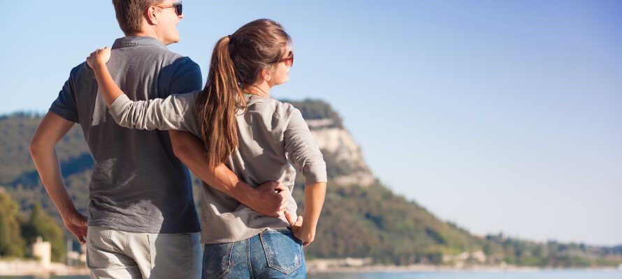 Der er lagt op til en skøn ferie med hygge og romantik i Gardasøens fantastiske omgivelser