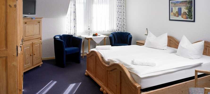 Die gemütlichen, entweder ländlich, rustikal oder modern einrichteten Zimmer haben alle ihren eigenen Charme