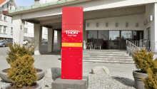 Hotellet ligger nära den pittoreska hamnen i Haugesund.