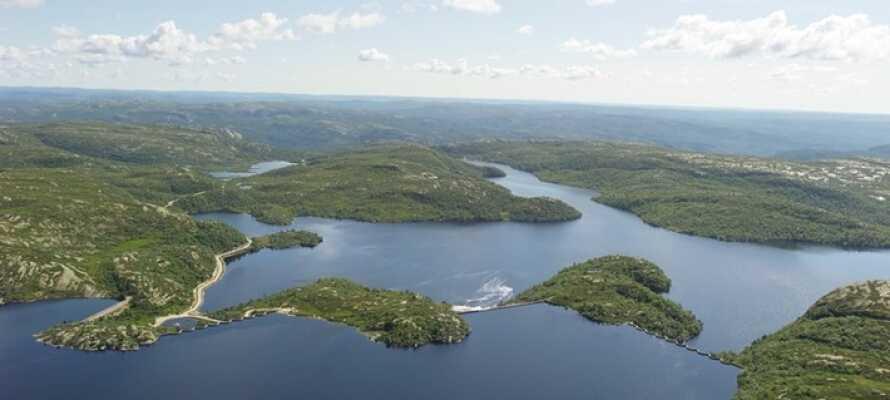 Eikerapen Gjestegård er et godt utgangspunkt for å oppleve den vakre naturen i Sør-Norge