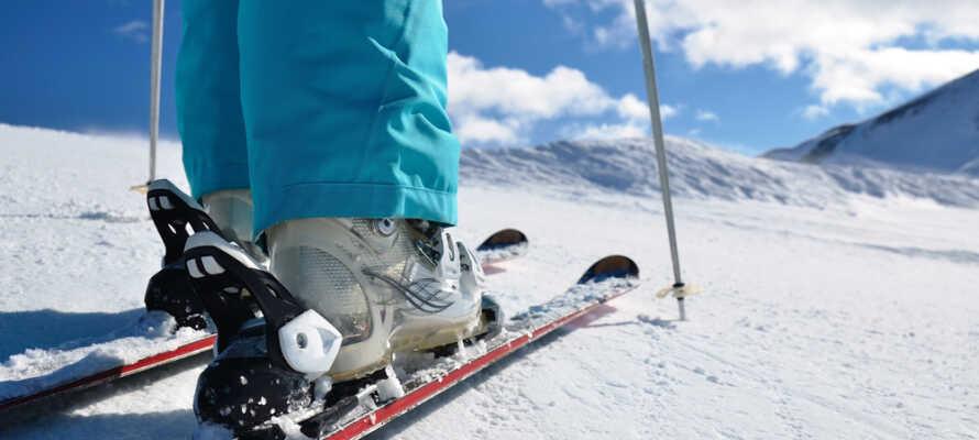 Eikerapen Alpinsenter ligger ikke langt fra hotellet og byder på flere forskellige skipister.