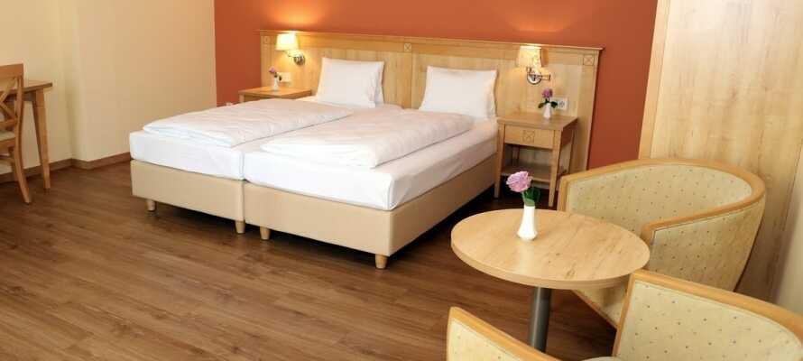 Hotellets indretning kombineret med de dejlige omgivelser udenfor vinduerne, indbyder til afslapning, hygge og samvær