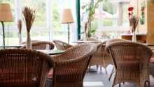 Hotellet är som upplagt för en avslappnande semester i alperna.