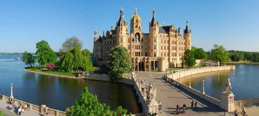 Staden Schwerin räknas som en av regionens vackraste städer och är väl värt ett besök.