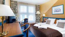 Die einladenden Zimmer des Hotels bieten eine gute Basis für Ihren Aufenthalt in der Nähe von Wismar.