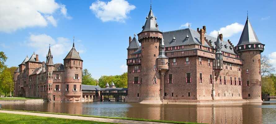 En af de store oplevelser i Utrecht er et besøg på det smukke slot 'De Haar'.