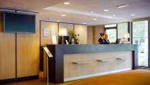 Hotelloungen med bar och uppehållsmöjligheter