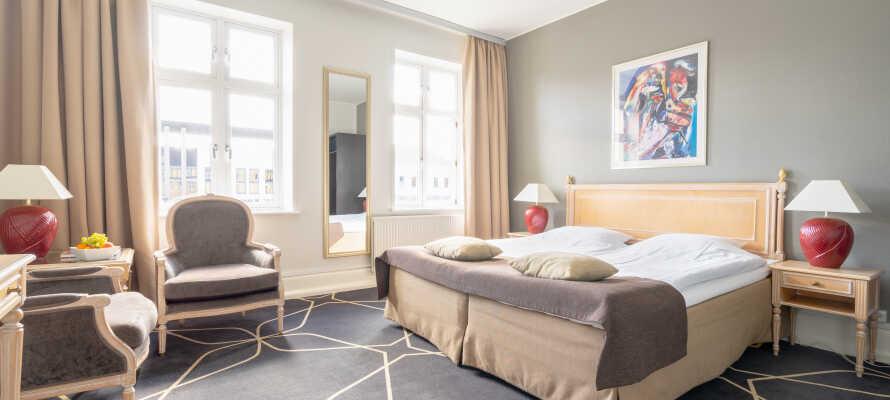 Hotellets rum är mysigt inredda och perfekta för att slappna av efter en dag av utflykter som temaparken Labyrinthia.