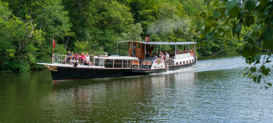 Etwas, das Sie in Silkeborg unternehmen sollten, ist eine Bootsfahrt mit dem Dampfer Hjejlen.