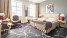 Eksempel på dobbeltværelse indrettet i moderne stil