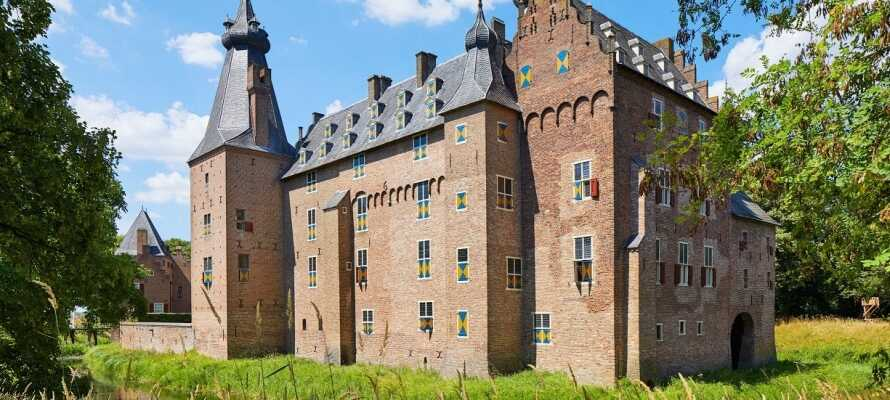 Vandra i nationalparken De Veluwe som omger hotellet