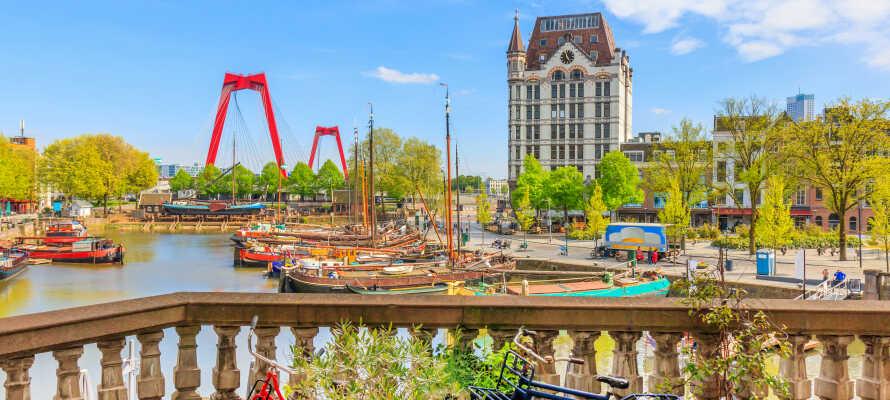 Kør en tur til Rotterdam, der er en spændende by med masser af muligheder og seværdigheder.