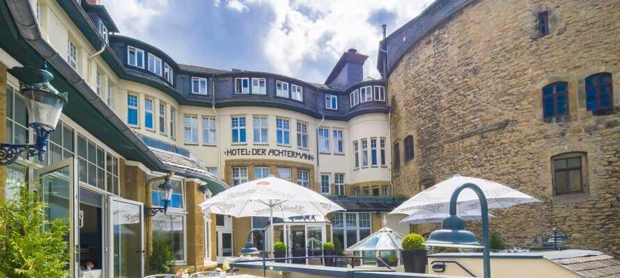 Hotel DER Achtermann ligger centralt i Goslar og i gåafstand til den gamle bydel.