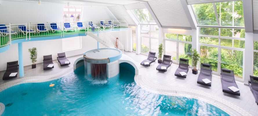 Hotellets spa og afslapningsområde er det perfekte sted at få hvilet kroppen og fødderne!