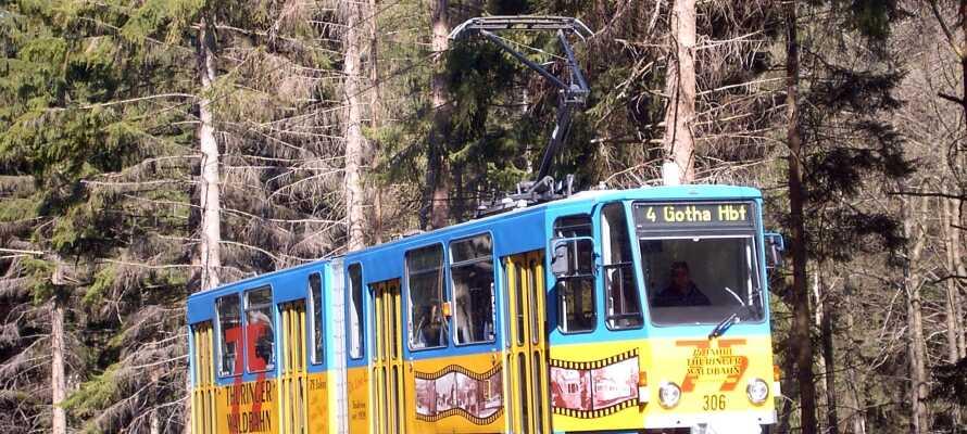Fahren Sie mit der Thüringerwaldbahn durch einige der schönsten Landschaften Deutschlands.