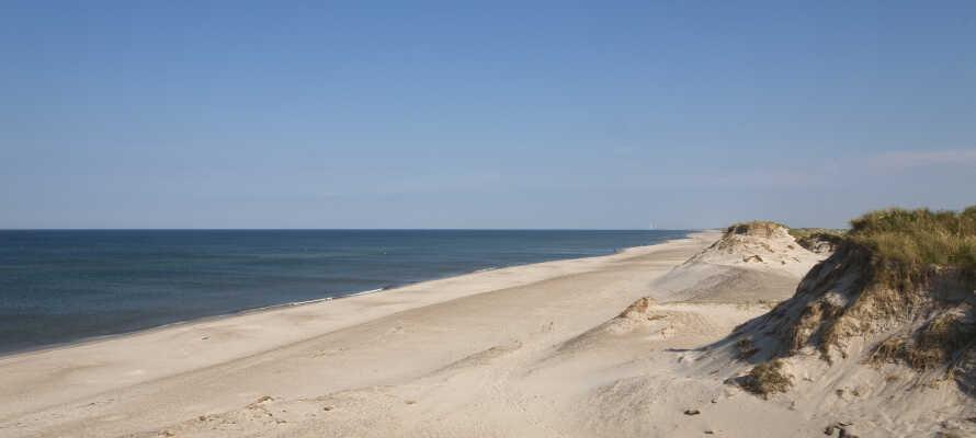 Det är endast en kort bilresa till det vackra Vesterhavet där ni kan ta långa promenader i den friska havsluften