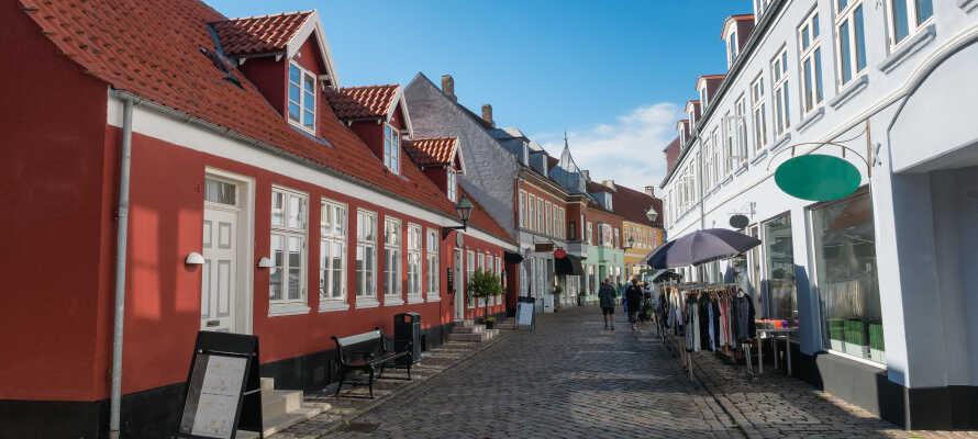 Hotellets läge gör att ni erbjuds goda möjligheter till att även besöka den charmiga staden Ebeltoft.
