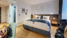 Et eksempel på et av hotellets dobbeltværelser