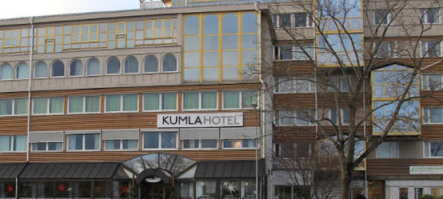 Kumla Hotel ligger godt hvis rejsen går til Mellemsverige ikke langt fra Örebro.