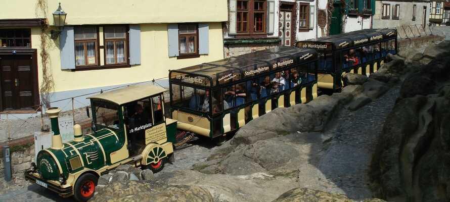 Opholdet inkluderer en tur med Quedlinburger Bimmelbahn, hvor I kommer på en herlig rejse gennem den historiske by.