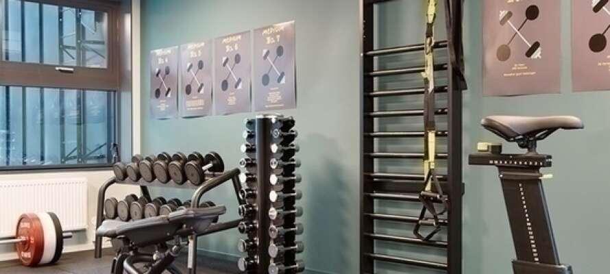 Comfort Hotel Västerås har også et motionsrum, hvor I kan få trænet lidt under ferien.