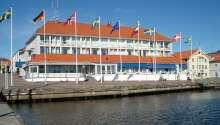 Velkommen til Villa Maritime Marstrand, hvor I bor midt i Bohuslän-skærgården og med udsigt over havnen