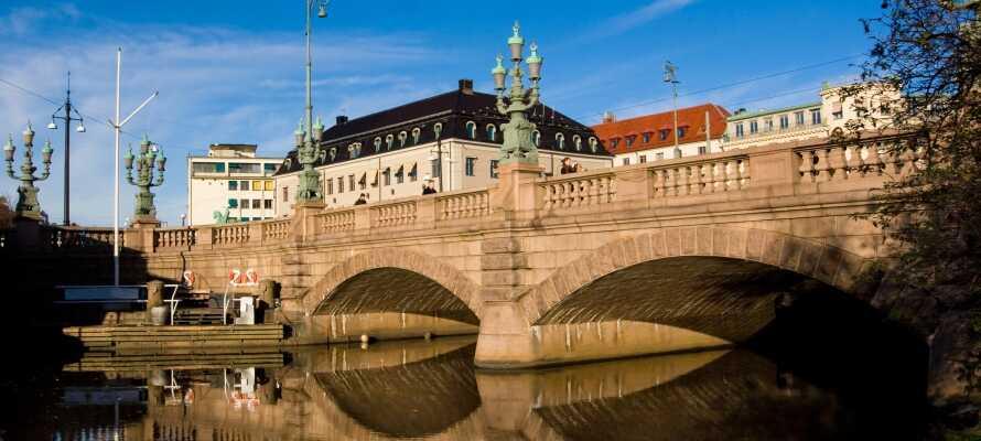 Tag på fantastiske udflugter og besøg f.eks. smukke Göteborg!