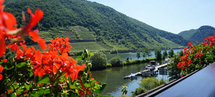 Flera av hotellrummen bjuder på en fin utsikt över Mosel-floden.