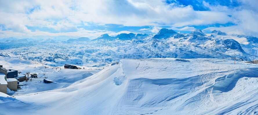 Området omkring Dachstein alperne er ideelt for ski aktiviteter og byder på et spændende skiområde.