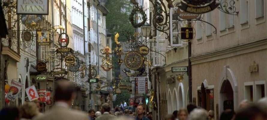 Der er gode shopping-muligheder i Salzburg.