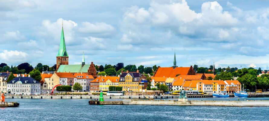 Erleben Sie die maritime Stimmung im Hafen von Helsingør, der in geringer Entfernung zum Hotel liegt.