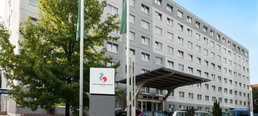 Good Morning+ Berlin City East ligger i rolige omgivelser i Lichtenberg-distriktet i det østlige Berlin