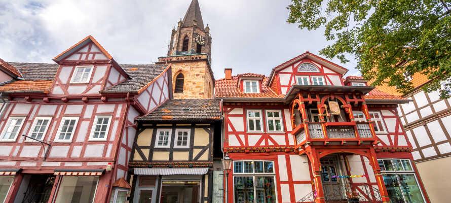 Rotenburg an der Fulda har en masse smukke bindingsværkshuse og en tur rundt i byen er derfor oplagt.