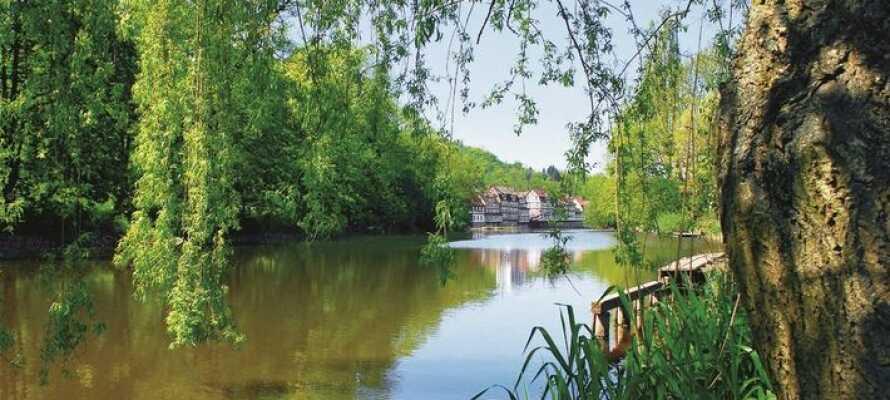 Die schöne Gegend ist ideal für einen Wanderurlaub per Pedes, Boot oder Rad.
