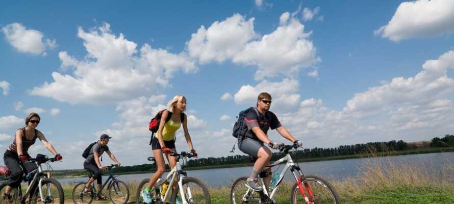 Det er mange sykkel- og turstier i Waldhessen.