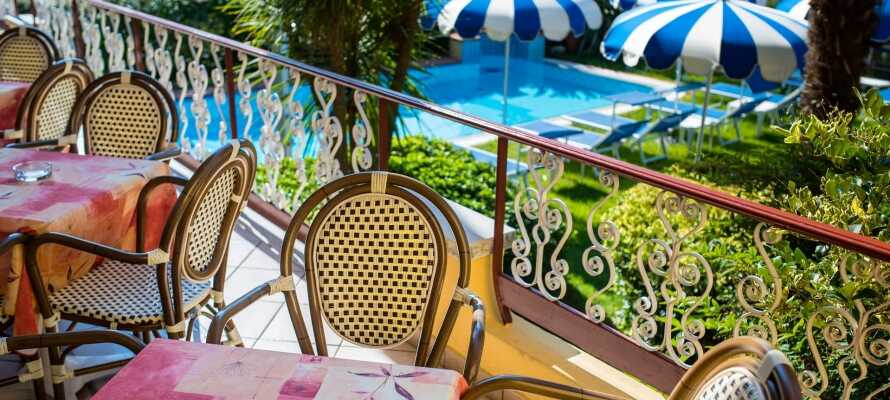 Få en perfekt start på dagen med en herlig frokost, som dere har mulighet for å nyte på terrassen