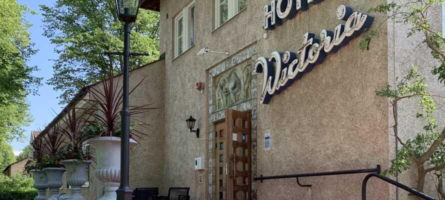 Hotel Wictoria har en sentral, men rolig, beliggenhet i Mariestad, som ligger ved Vänern.