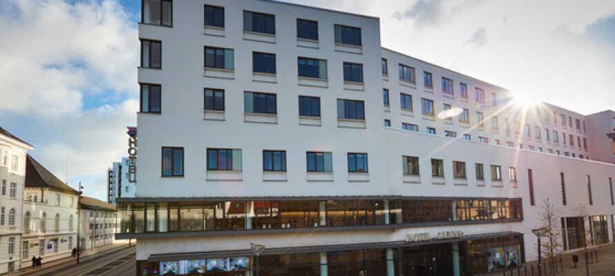 Hotel Cabinn Aalborgs centrale placering gør det nemt og hurtigt at komme ind til Aalborg centrum.