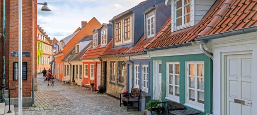 Peder Barkers Gade är en av de många mysiga gatorna i Aalborgs innerstad.