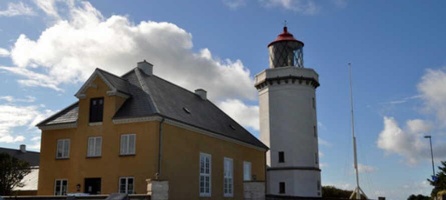 Hanstholm Fyr är en av de många vackra byggnaderna i Nordjylland.