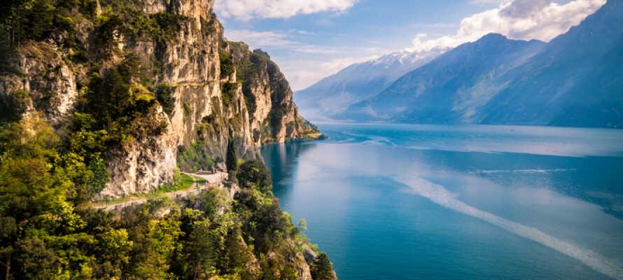 Riva del Garda bjuder på en fantastisk natur och slående vyer.