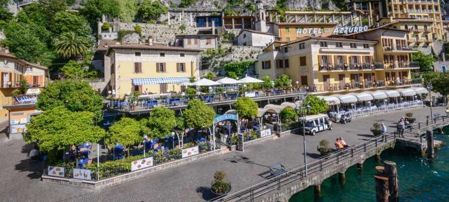 Das Hotel liegt in einer ruhigen Fußgängerzone nahe dem historischen Zentrum von Limone sul Garda.