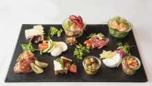Restauranten 'Bellevue' tilbyr deilige måltider av høy kvalitet