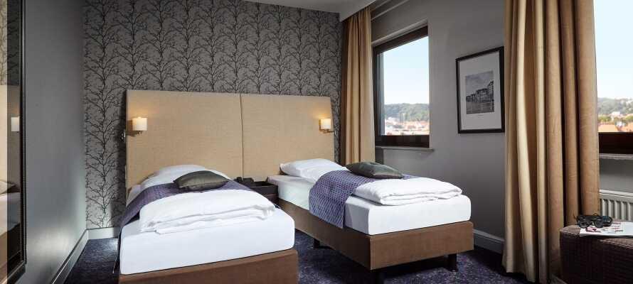 De nydelige værelser er udstyret med behagelige senge og sørger for en god nats søvn